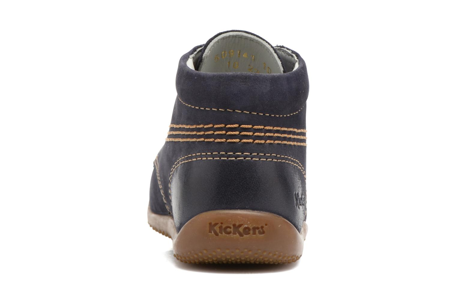 Zapatos con cordones Kickers Billy Negro vista lateral derecha