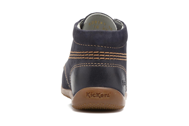 Snörade skor Kickers Billy Svart Bild från höger sidan