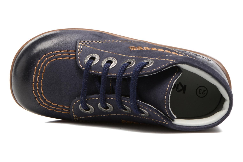 Zapatos con cordones Kickers Billy Negro vista lateral izquierda