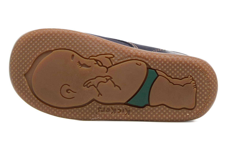 Chaussures à lacets Kickers Billy Noir vue haut