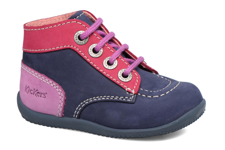 Boots Kickers Bonbon Blå detaljerad bild på paret
