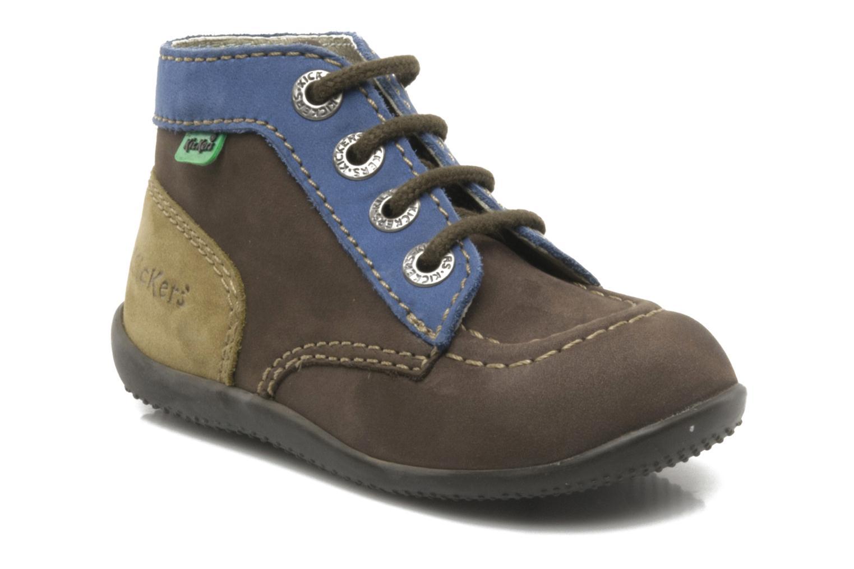 Boots en enkellaarsjes Kickers Bonbon Bruin detail