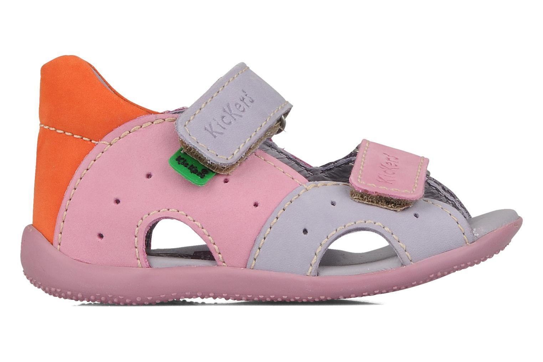 Sandales et nu-pieds Kickers Boan Violet vue derrière