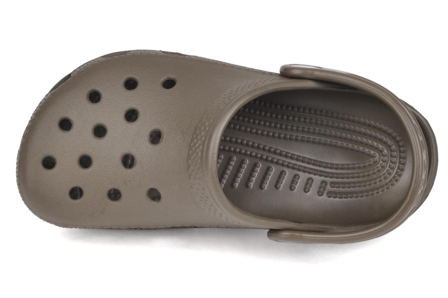 Sandals Crocs Kids Cayman Brown view from the left