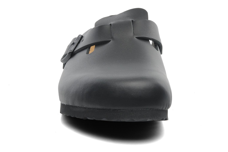 Sandalen Birkenstock Boston Cuir M schwarz schuhe getragen