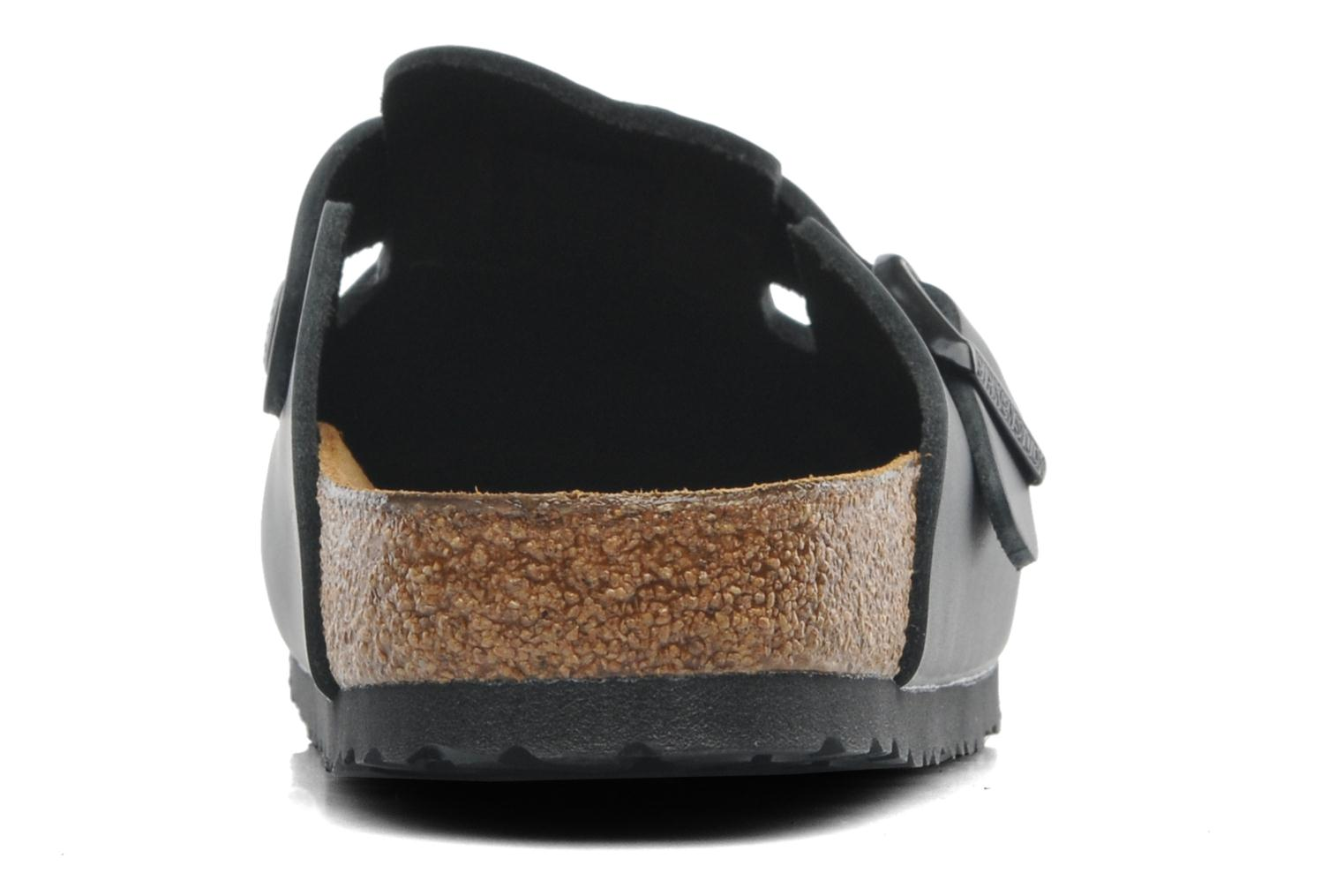 Sandals Birkenstock Boston Cuir M Black view from the right