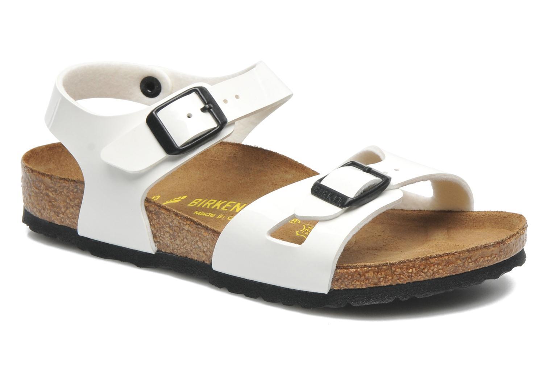 Sandaler Birkenstock Rio Vit detaljerad bild på paret