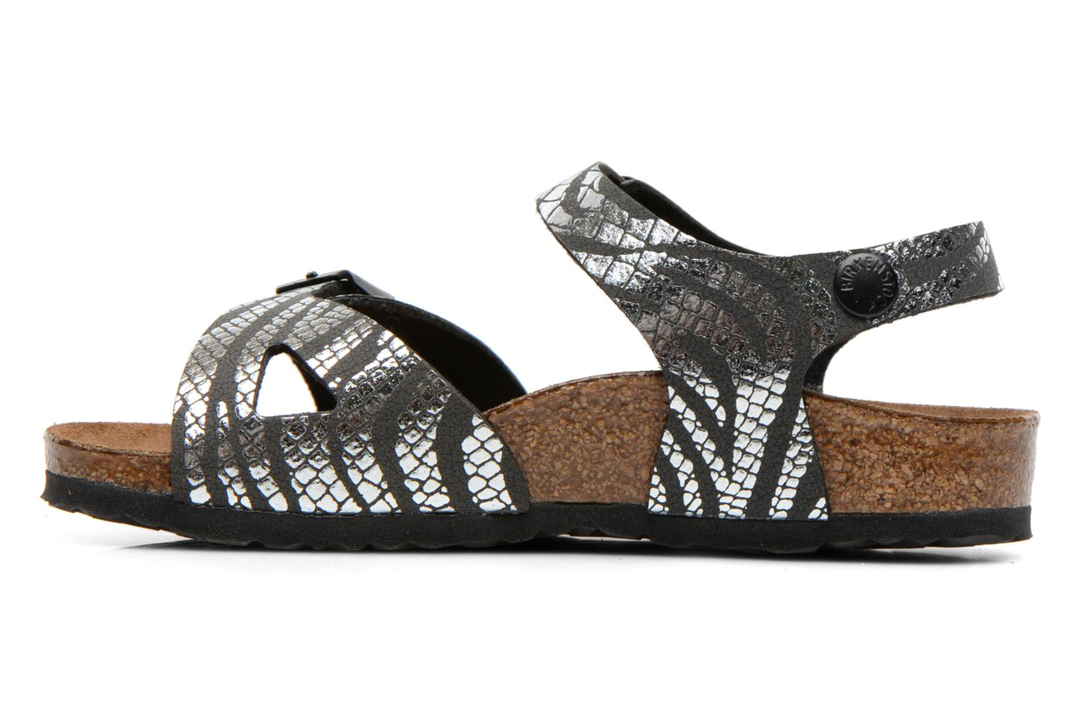 Sandals Birkenstock Rio Silver front view