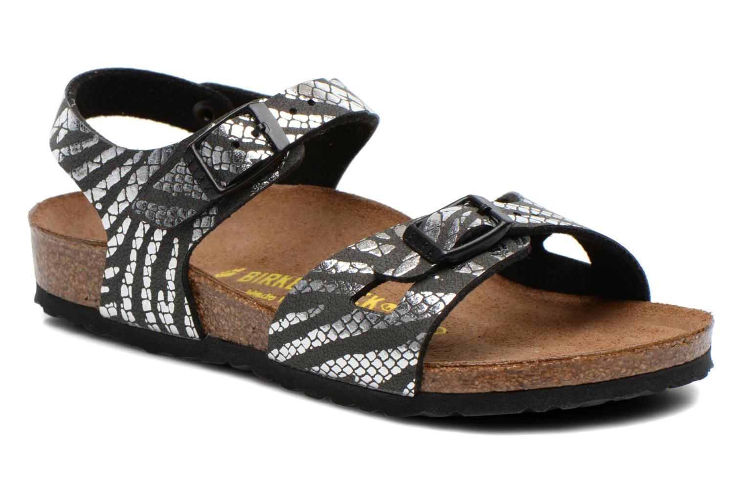 Sandals Birkenstock Rio Silver detailed view/ Pair view