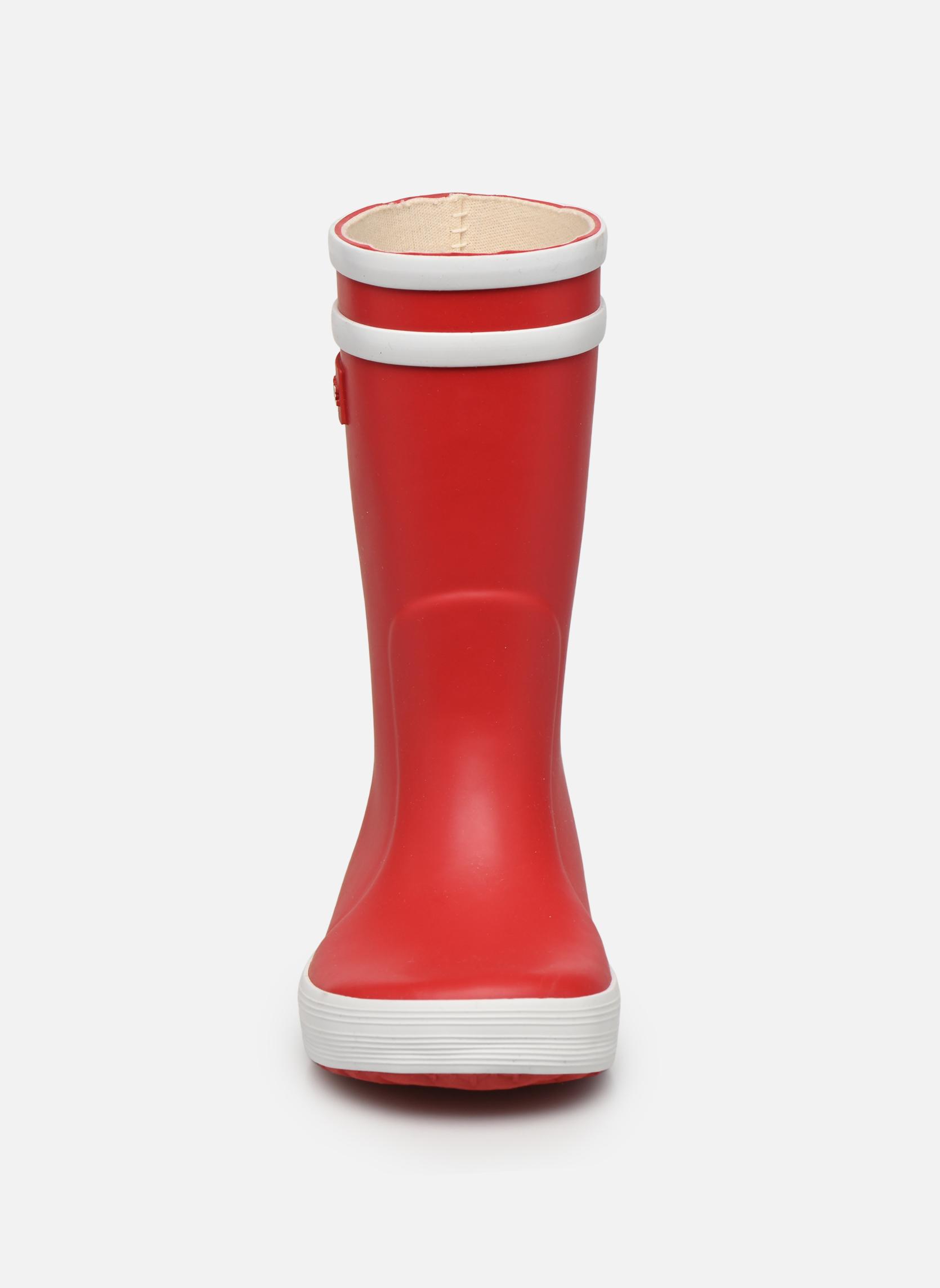 Botas Aigle Lolly Pop Rojo vista del modelo