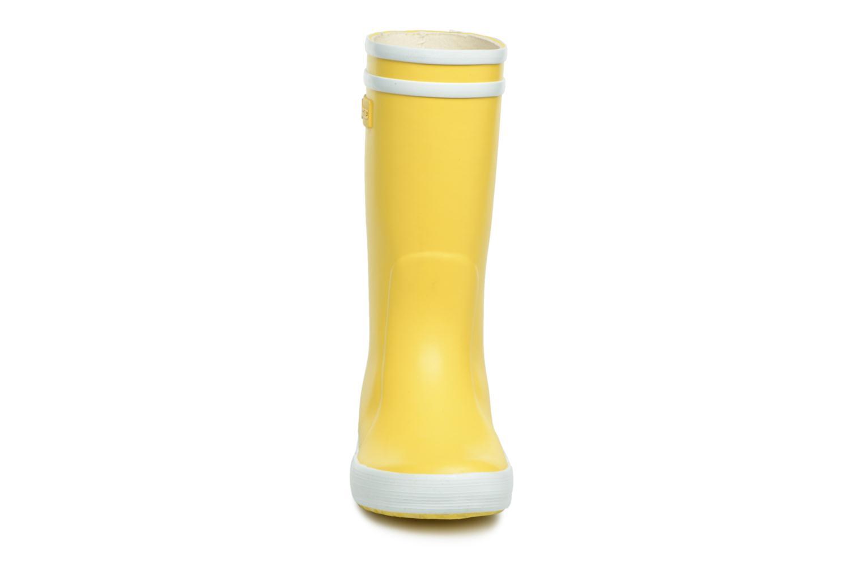 Stiefel Aigle Lolly Pop gelb schuhe getragen