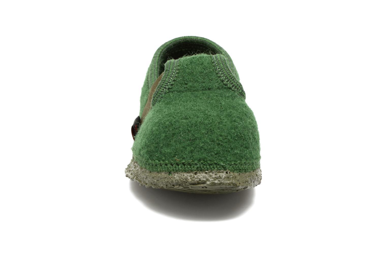 Hausschuhe Giesswein Türnberg grün schuhe getragen