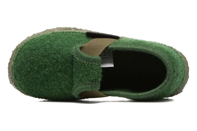 Hausschuhe Giesswein Türnberg grün ansicht von links