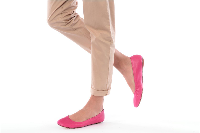 Ballerinas Maloles Georges rosa ansicht von unten / tasche getragen