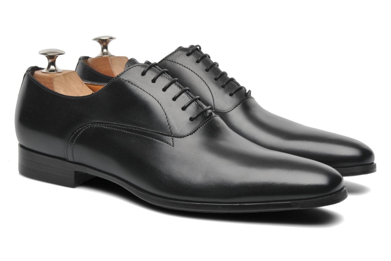 Chaussures à lacets Santoni William 7413 Noir vue 3/4