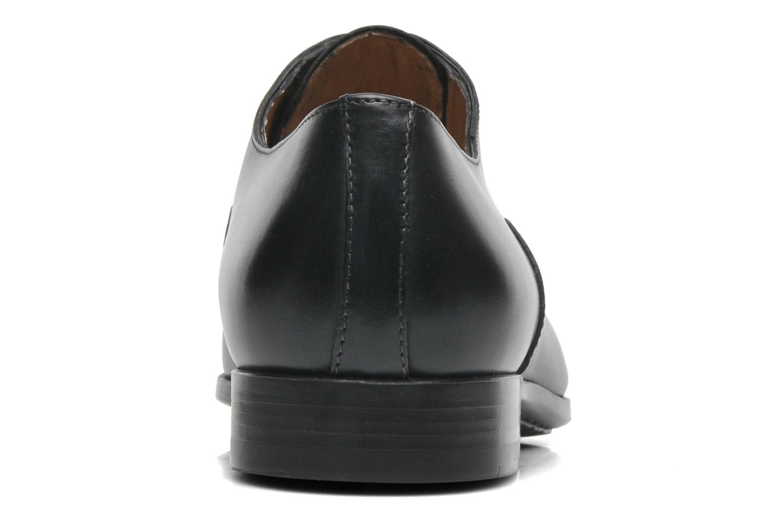 Chaussures à lacets Santoni William 7413 Noir vue droite