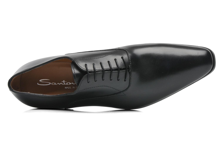 Chaussures à lacets Santoni William 7413 Noir vue gauche