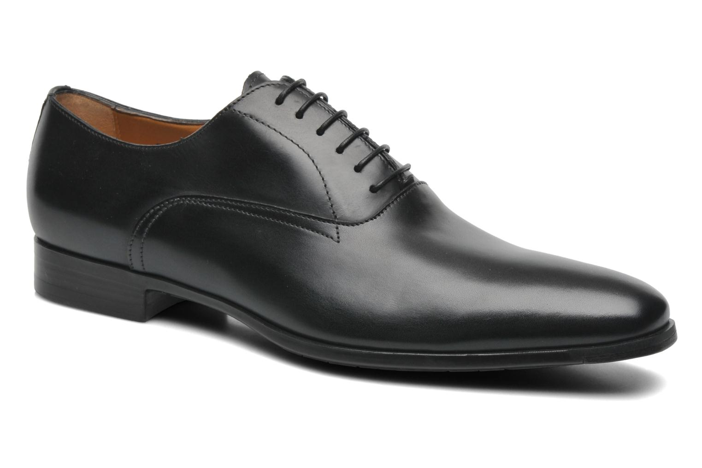 Snøresko Santoni William 7413 Sort detaljeret billede af skoene