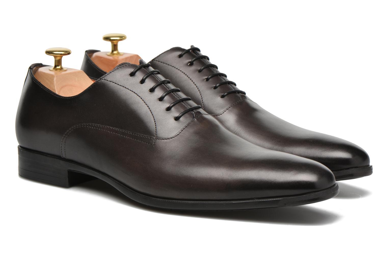 Chaussures à lacets Santoni William 7413 Gris vue 3/4