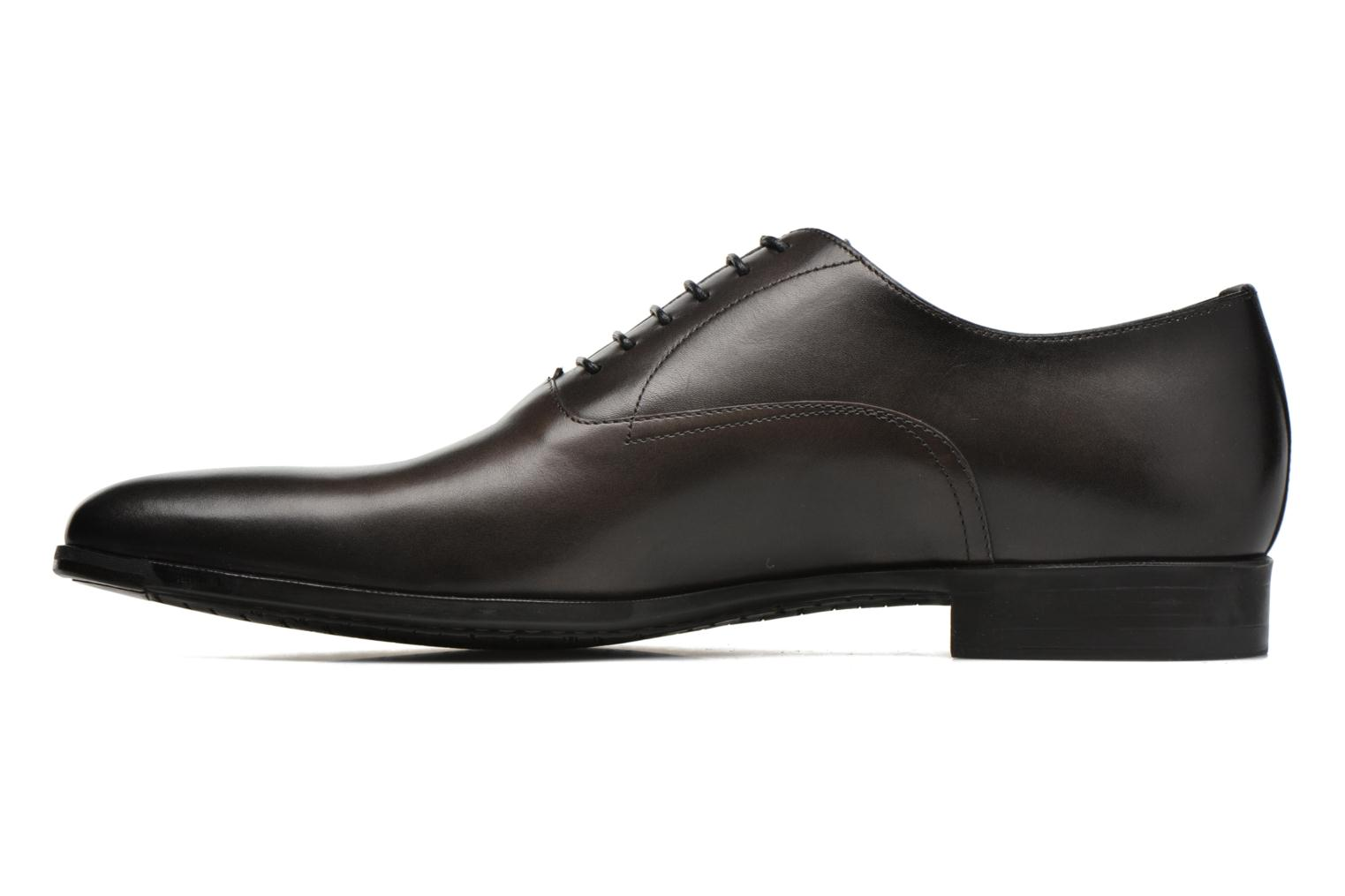 Lace-up shoes Santoni William 7413 Grey front view