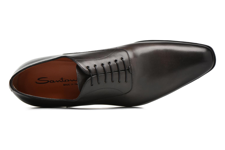 Chaussures à lacets Santoni William 7413 Gris vue gauche