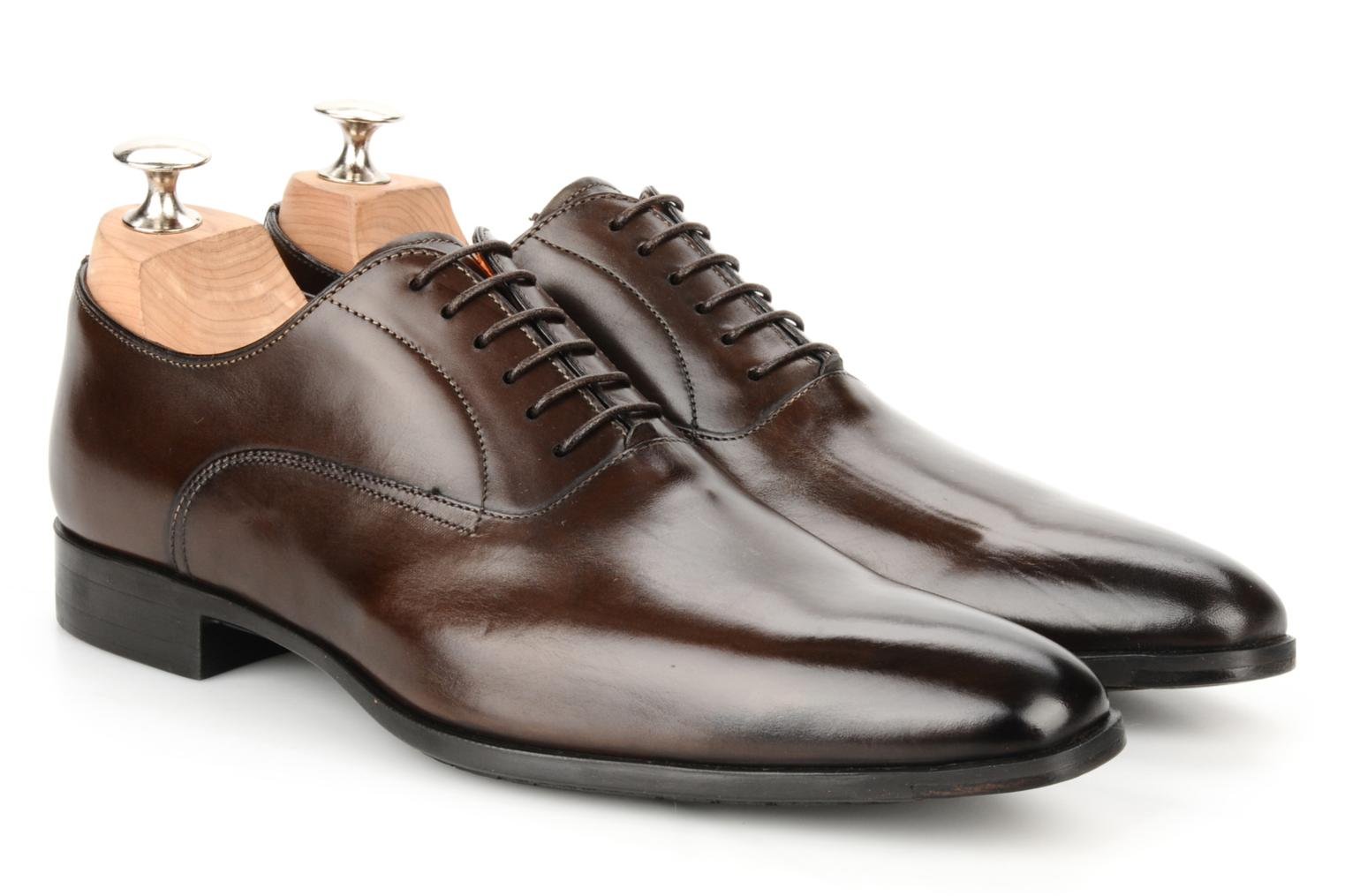 Lace-up shoes Santoni William 7413 Brown 3/4 view