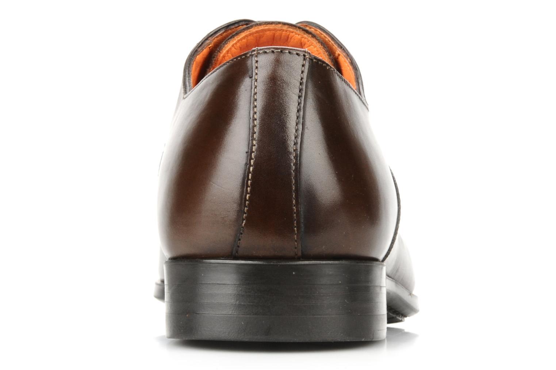 Chaussures à lacets Santoni William 7413 Marron vue droite