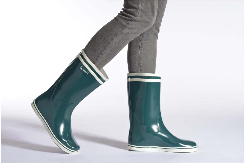 Bottines et boots Aigle Malouine Jaune vue bas / vue portée sac