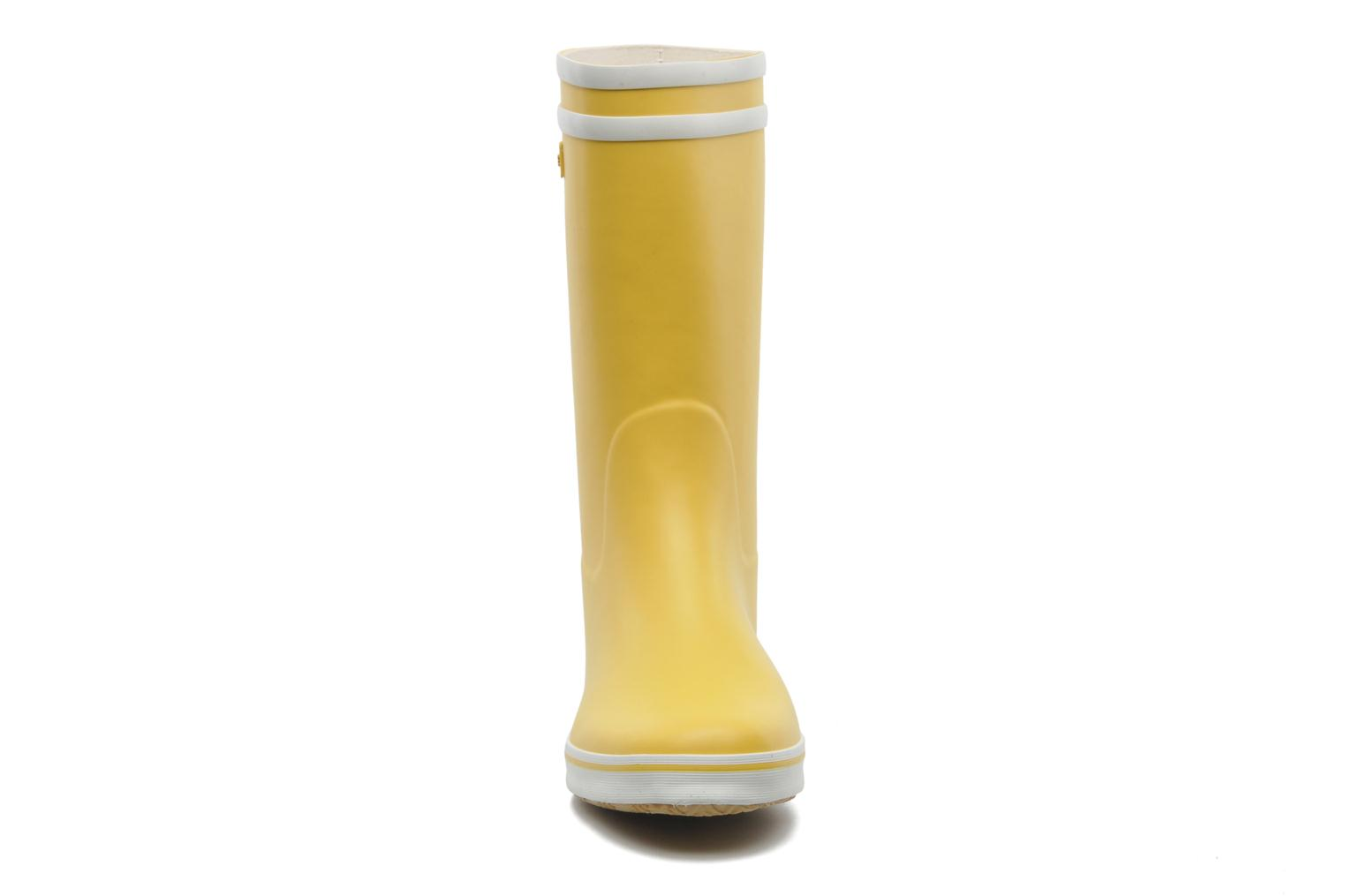 Ankle boots Aigle Malouine Yellow model view