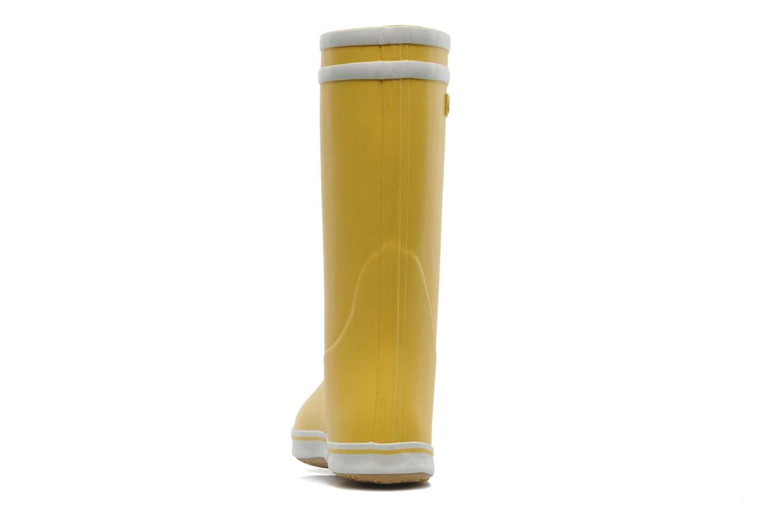 Ankle boots Aigle Malouine Yellow view from the right