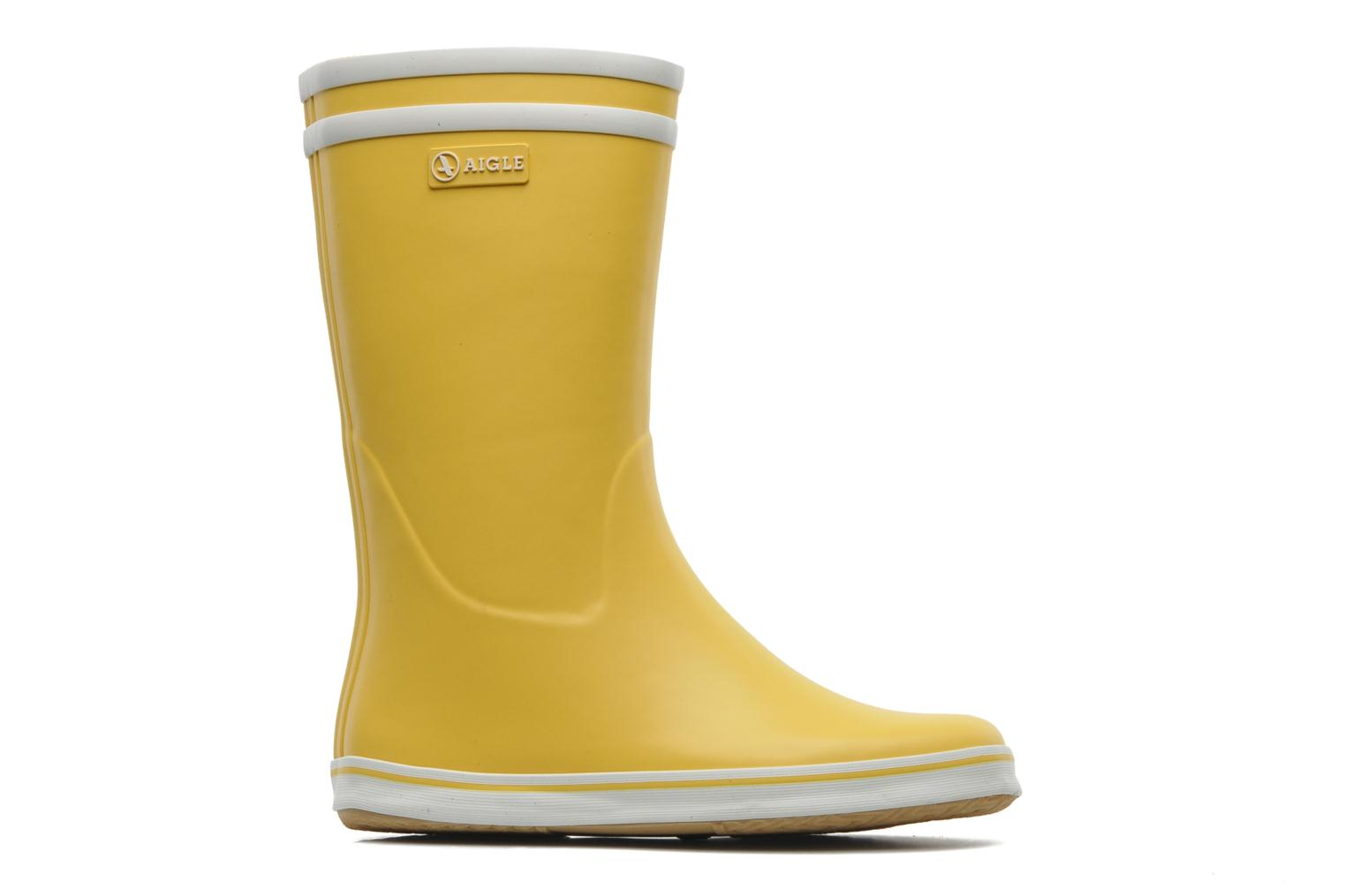 Ankle boots Aigle Malouine Yellow back view