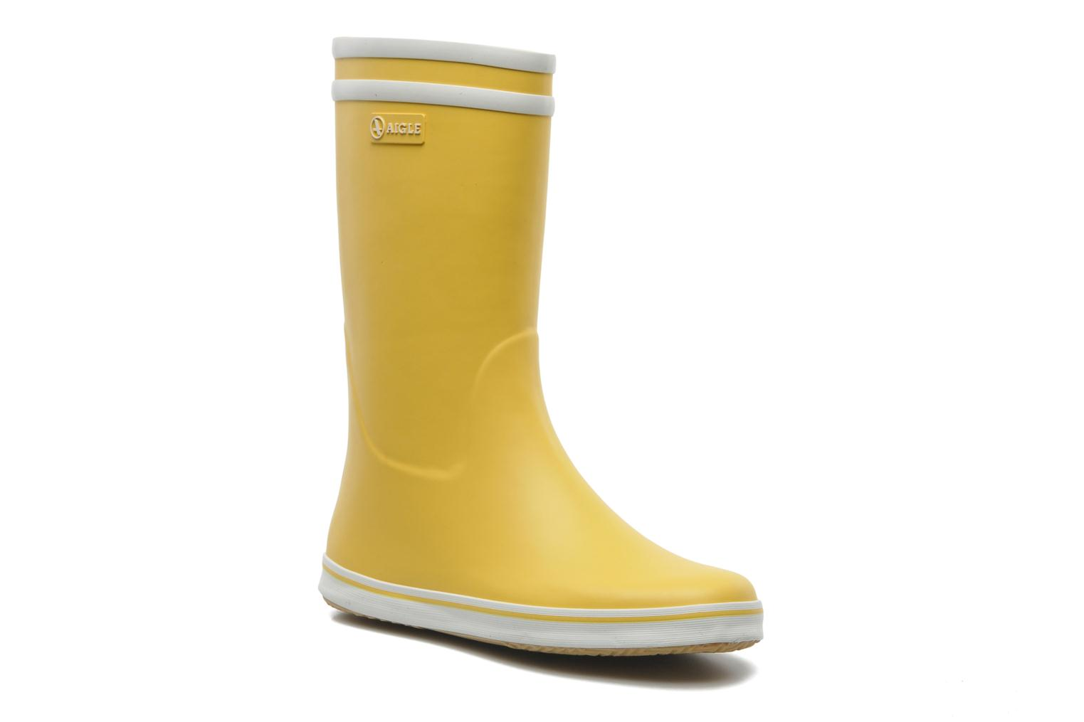 Ankle boots Aigle Malouine Yellow detailed view/ Pair view