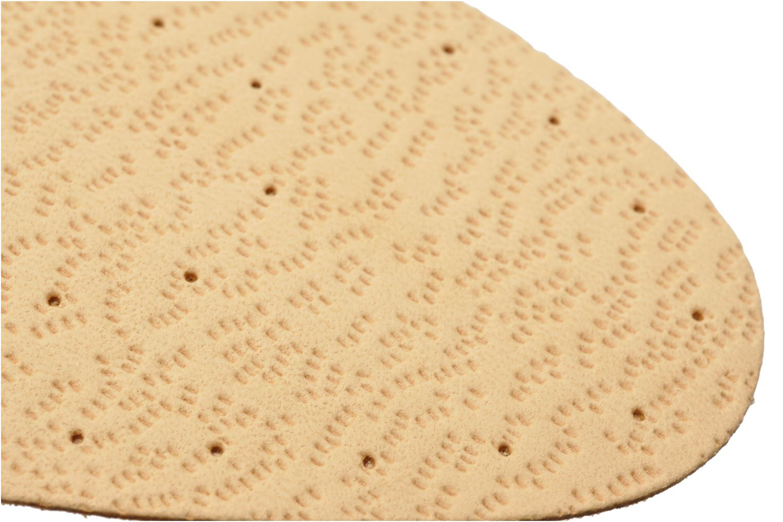 Leather and cork insole for women Beige