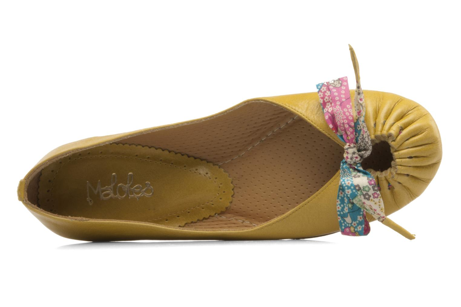 Ballet pumps Maloles Zoe Yellow view from the left