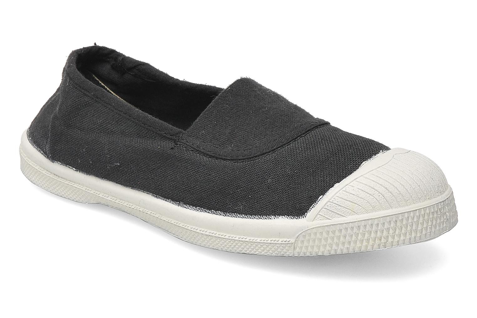 Ballet pumps Bensimon Tennis Elastique E Grey detailed view/ Pair view