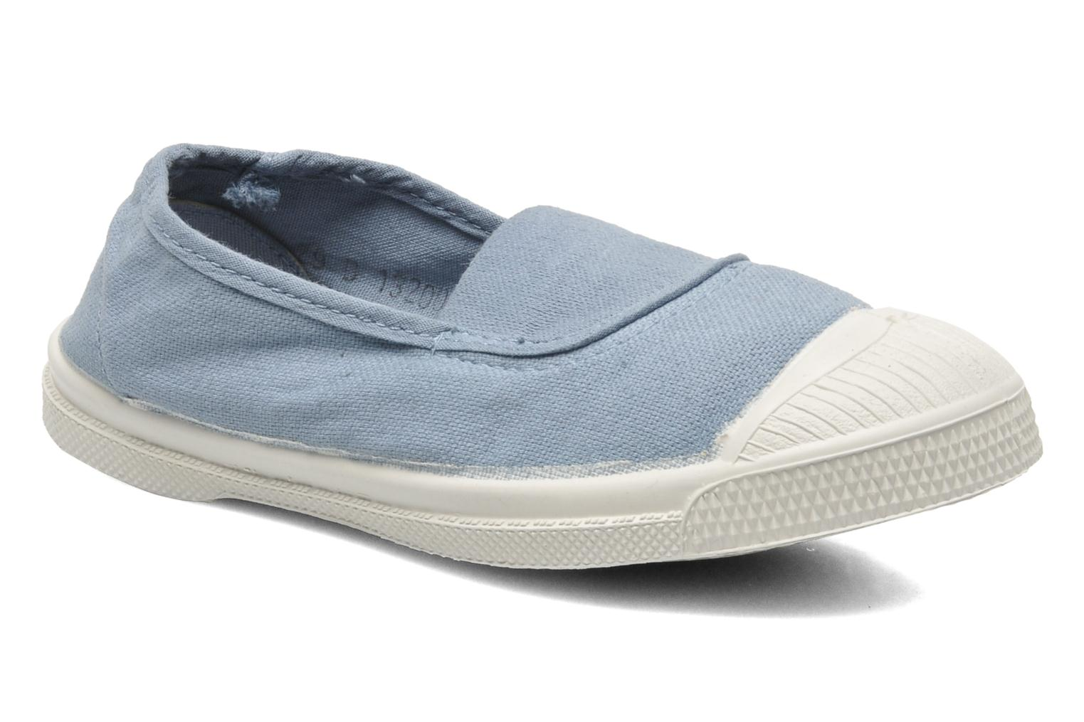 Ballet pumps Bensimon Tennis Elastique E Blue detailed view/ Pair view