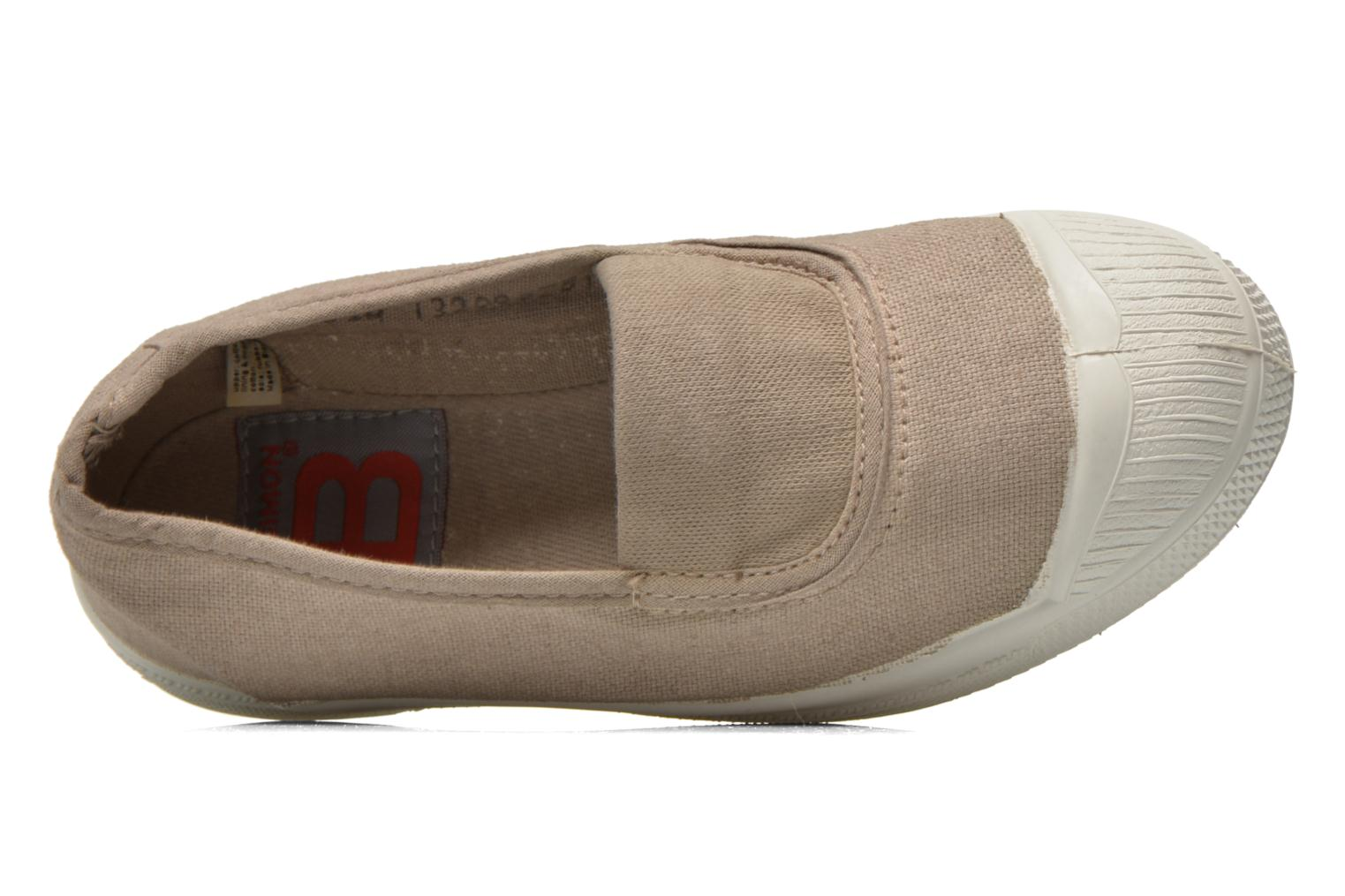 Ballet pumps Bensimon Tennis Elastique E Beige view from the left