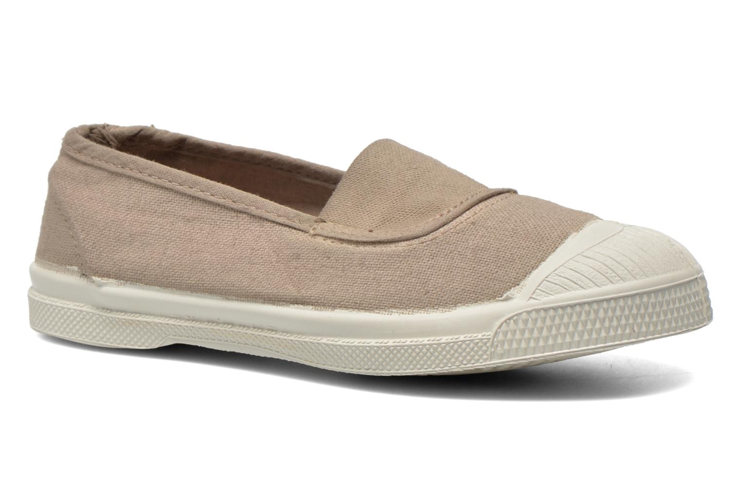 Ballet pumps Bensimon Tennis Elastique E Beige detailed view/ Pair view