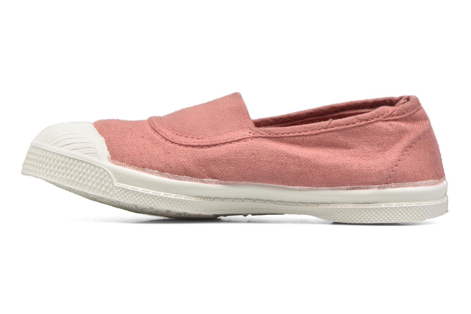 Ballerines Bensimon Tennis Elastique E Rose vue face