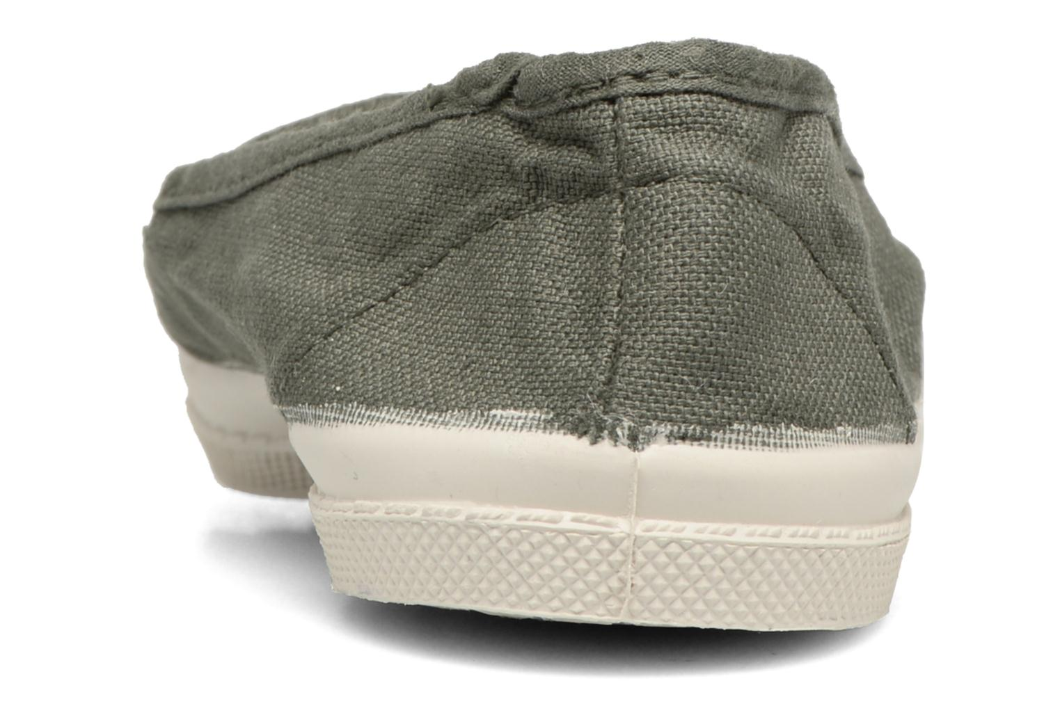 Ballet pumps Bensimon Tennis Elastique E Green view from the right