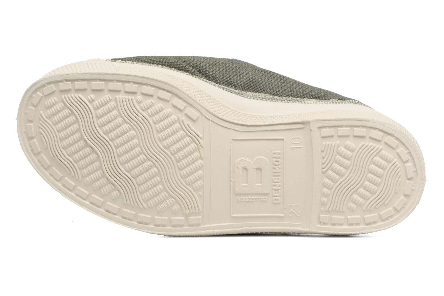 Ballet pumps Bensimon Tennis Elastique E Green view from above