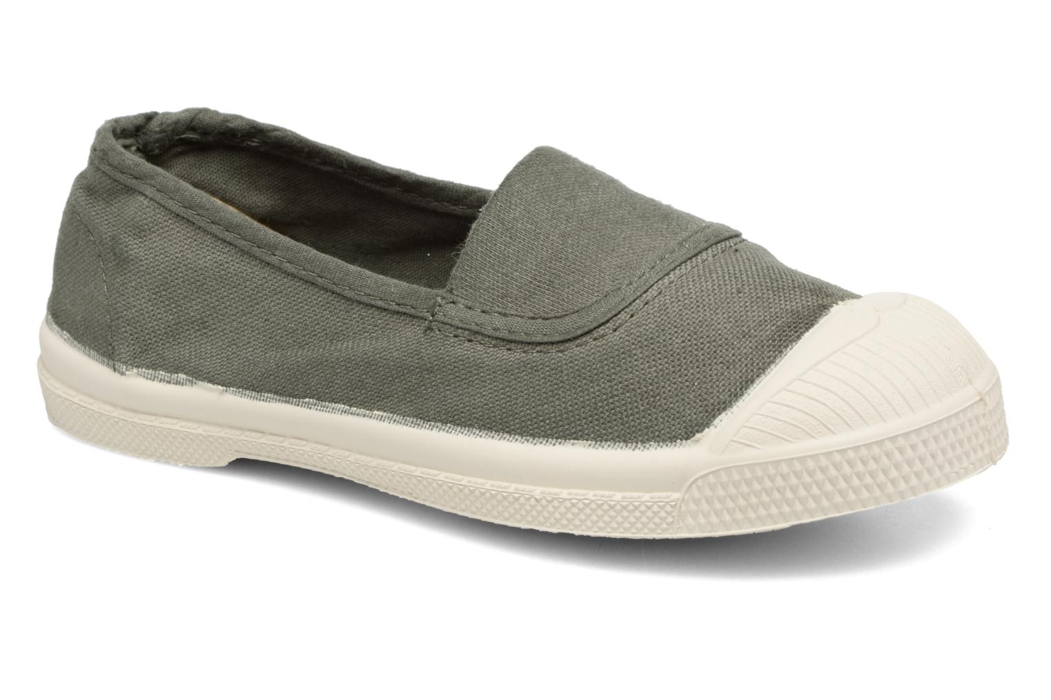 Ballet pumps Bensimon Tennis Elastique E Green detailed view/ Pair view