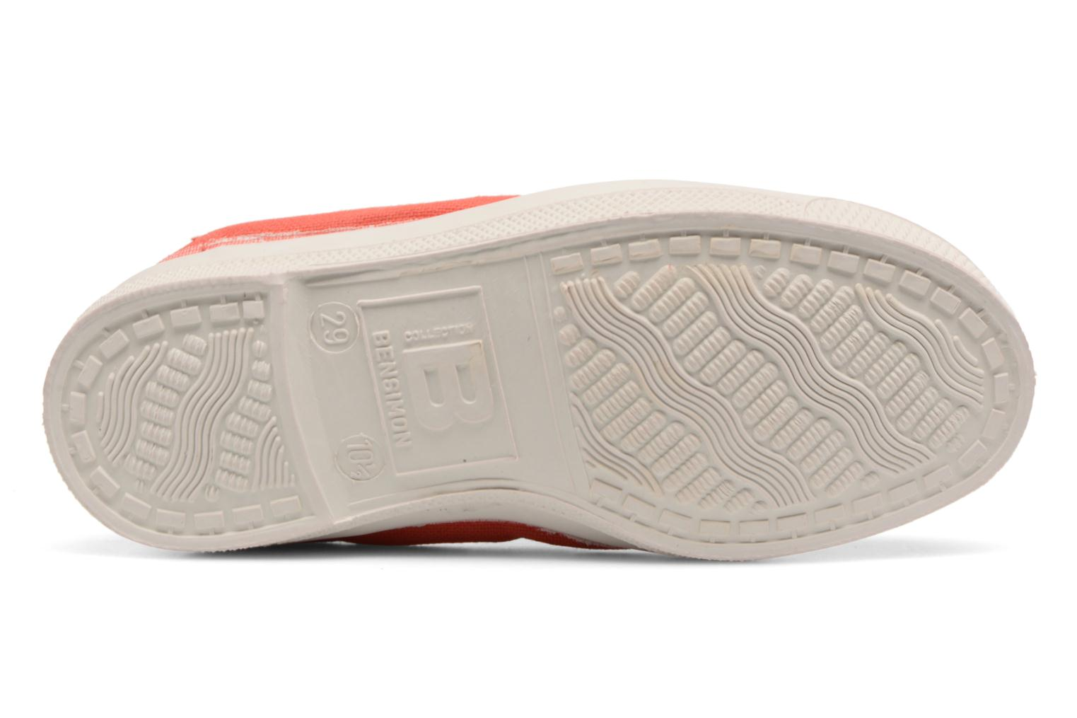 Ballerines Bensimon Tennis Elastique E Orange vue haut