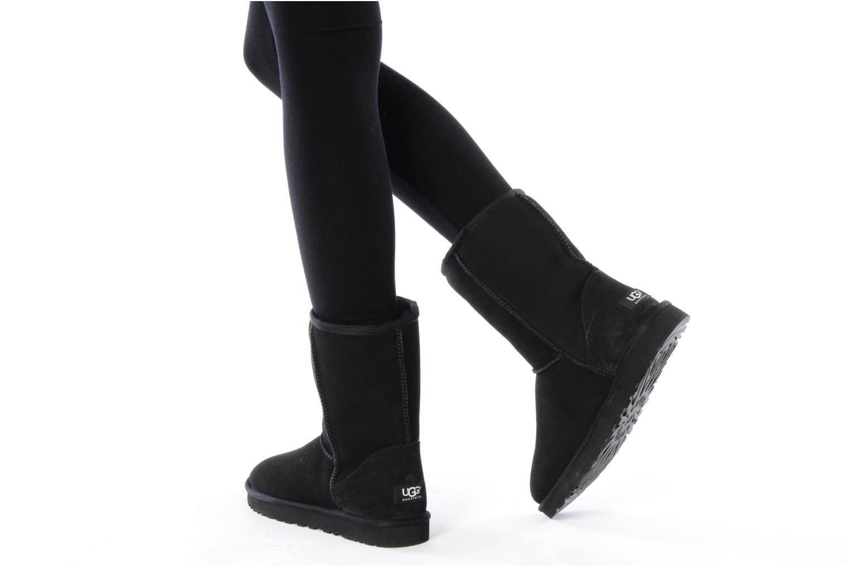 Bottines et boots UGG Classic Short Gris vue bas / vue portée sac