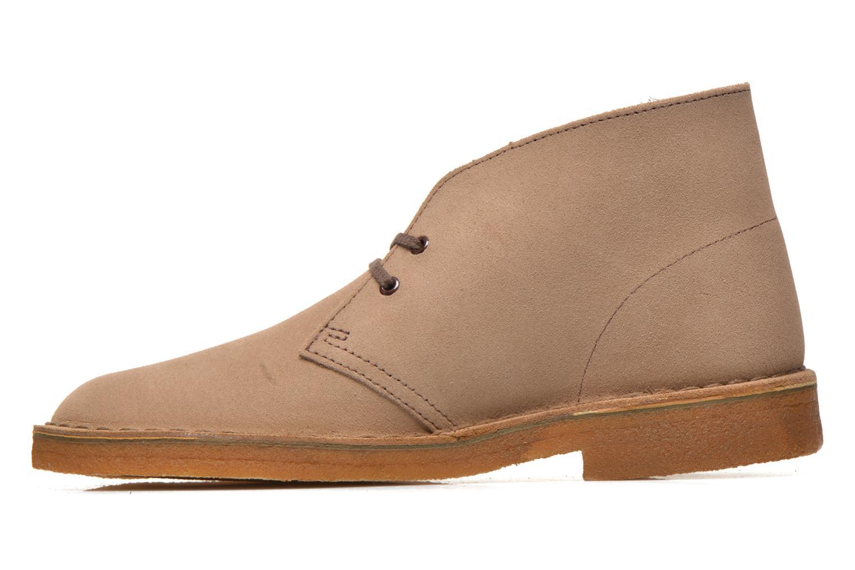 Bottines et boots Clarks Desert Boot M Beige vue face