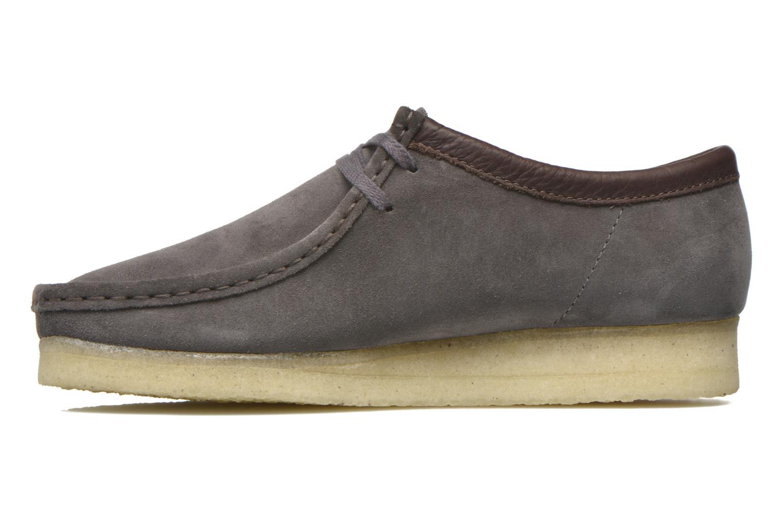 Chaussures à lacets Clarks Originals Wallabee M Gris vue face