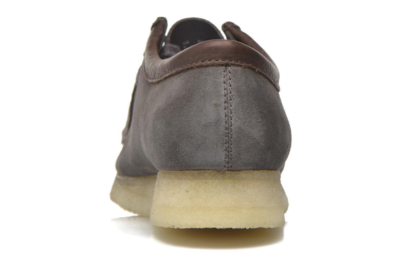 Chaussures à lacets Clarks Originals Wallabee M Gris vue droite