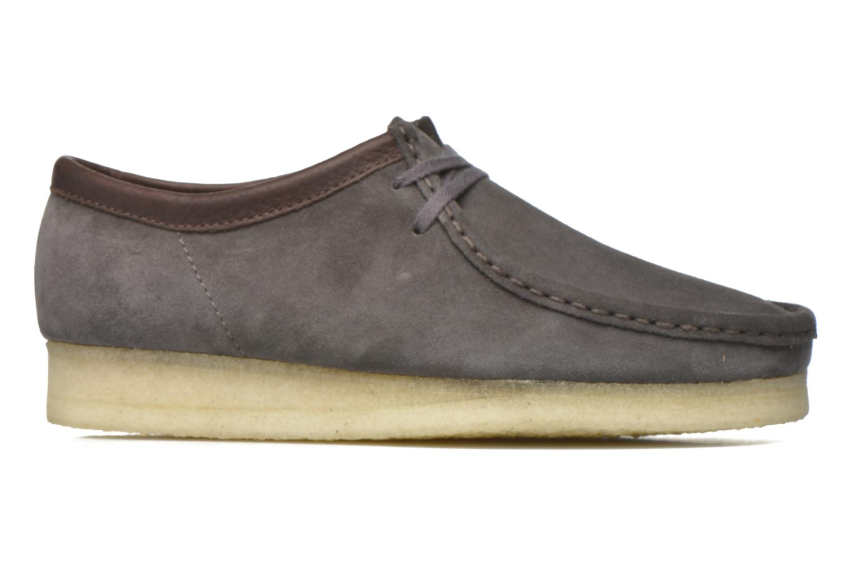 Chaussures à lacets Clarks Originals Wallabee M Gris vue derrière