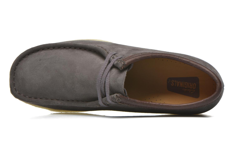 Chaussures à lacets Clarks Originals Wallabee M Gris vue gauche