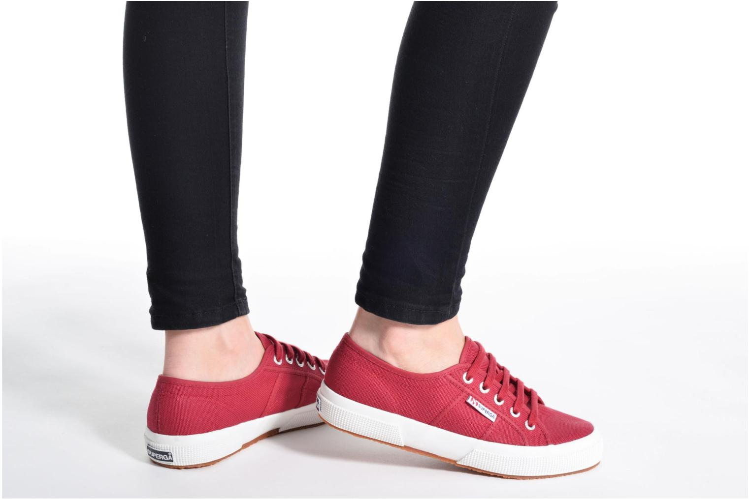 Trainers Superga 2750 Cotu W Grey view from underneath / model view